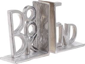 Books Set suport opritor carti, Aluminiu, Argintiu