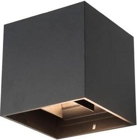 LED Aplica perete de exterior RIKO 2xLED/4W/230V neagră IP44