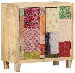 286139 vidaXL Servantă cu petice, 70 x 35 x 75 cm, lemn masiv de mango