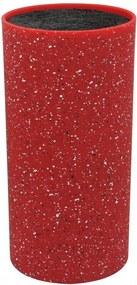 Suport pentru cutite rosu marmorat Zephyr, 22.5cm