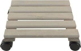 Suport din lemn de pin pentru ghiveci Esschert Design, lățime 30 cm