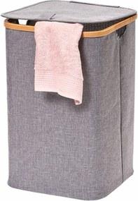 Cos de rufe Wallaroo bambus/material textil, gri, 33 x 51 x 33 cm
