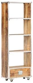 323407 vidaXL Bibliotecă, 56 x 28 x 163 cm, lemn masiv de mango nefinisat