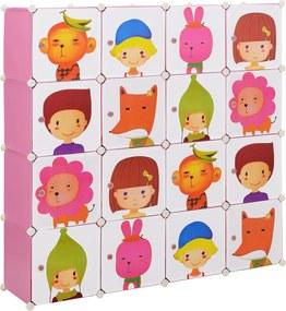 [neu.haus]® Dulap copii - dulap depozitare model roz - DIY sistem asamblare raft