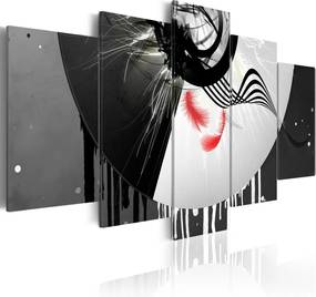 Tablou Bimago - Metal With Red Accents 200x100 cm