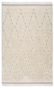 Covor Universal Kai Geo, 57 x 115 cm, alb