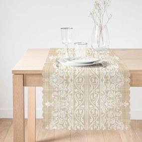 Napron pentru masă Minimalist Cushion Covers Beige Ethnic, 45 x 140 cm