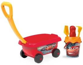 Smoby - Set jucarii nisip carucior Cars cu accesorii