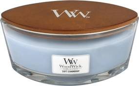 WoodWick albastre parfumata lumanare Soft Chambray barca