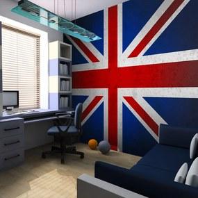 Fototapet Bimago - Union Jack + Adeziv gratuit 350x270  cm