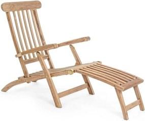 Sezlong din lemn natur Veradero 60 cm x 166 cm x 96 h x 28 h1 x 56 h2