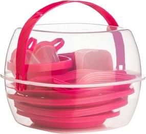 Set pentru picnic Premier Housewares Hot Pink, 51 piese