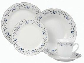 Serviciu de masa Domotti, 63182, Portelan, 30 piese, alb/arginti