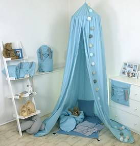 Baldachin suspendat multifunctional pentru copii Fluffy Sea bumbac 250 x 320 cm