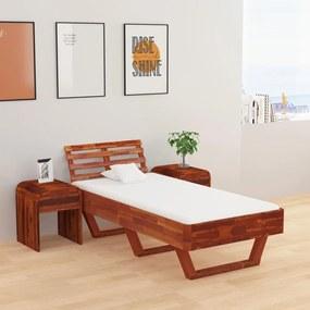 288310 vidaXL Cadru de pat, 100x200 cm, lemn masiv de acacia