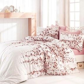 Lenjerie de pat Time Pink, din bumbac,, 140 x 200 cm, 70 x 90 cm