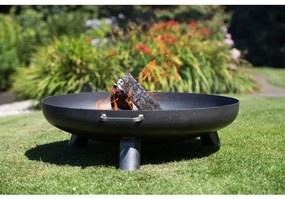 """411828 RedFire Vatră de foc """"Salo"""" din oțel, 80 cm, negru, 81020"""