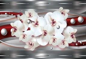 Fototapet GLIX - Modern Orchids 2 + adeziv GRATUIT Papírová tapeta - 254x184 cm