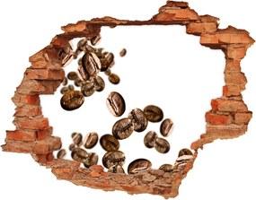 Nálepka diera na stenu betón Zrnká kávy