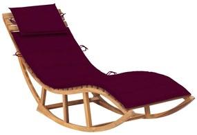 3063342 vidaXL Șezlong balansoar cu pernă, lemn masiv de tec