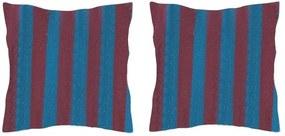 Set 2 Perne din bumbac pentru leagan sau hamac, 45x45cm, albastru/mov