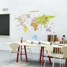 Autocolant de perete Ambiance World Map