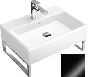Lavoar suspendat, 60 cm, negru lucios, Memento