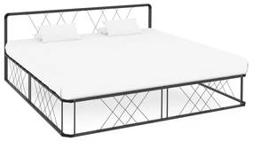 284599 vidaXL Cadru de pat, gri, 180 x 200 cm, metal
