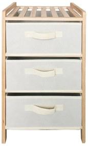 Dulap cu 3 sertare din panza pentru baie, 32x26x60 cm