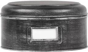 Recipient metalic LABEL51 Antigue, ⌀ 25 cm, negru
