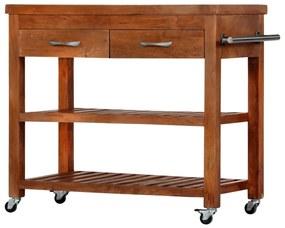 282753 vidaXL Cărucior de bucătărie, 100x48x89 cm, lemn masiv de acacia