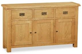 Bufet Benjamin, lemn masiv, maro, 86 x 147,5 x 40 cm