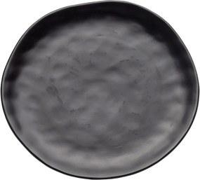 Farfurie din ceramică Kare Design Swirl, ⌀ 26 cm, negru