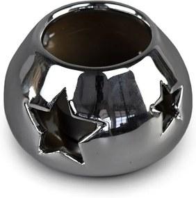 Sfeşnic ceramic de Crăciun, argintiu