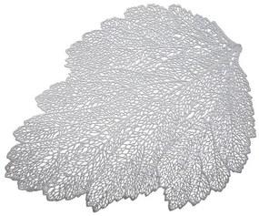 Suport farfurii 30x45cm frunza argintiu Glamour