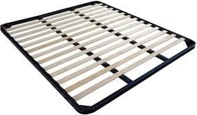 Somiera pat, Bedora, 140 x 200 cm, cadru otel, lamele din mesteacan drepte