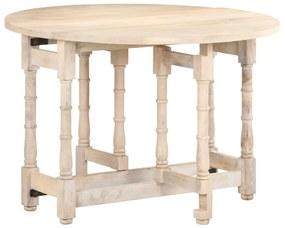 321700 vidaXL Masă de bucătărie, 110x76 cm, lemn masiv de mango, rotundă