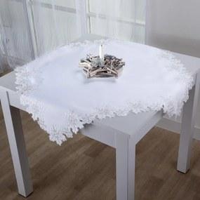 Şervet de masă FULG DE ZĂPADĂ argintiu 85 x 85 cm