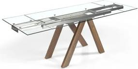 Masa dining extensibila design modern Walnut, 160-200-240x90cm