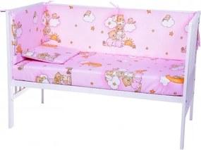 Aparatori laterale pentru pat Ursuletul somnoros Roz