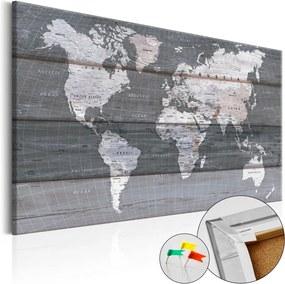 Tablou din plută - Grey Earth 120x80 cm