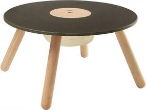 Masuta maro/neagra din lemn 55 cm Round Multifunctional Plan Toys