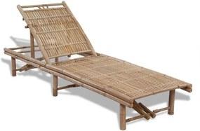 Șezlong din bambus, reglabil