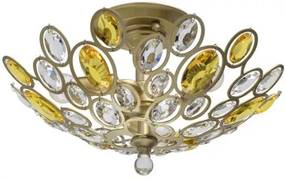 Lustra aplicata cristal stil elegant Laura auriu 3L