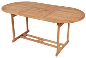 43030 vidaXL Masă de grădină, 180 x 90 x 75 cm, lemn masiv de tec