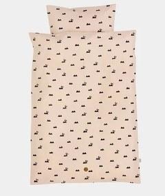 Lenjerie de pat bumbac roz 100x140 cm Rose Rabbit Ferm Living