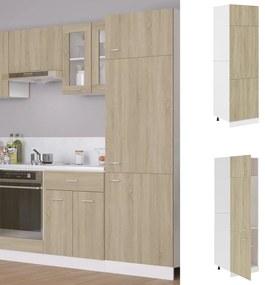 802541 vidaXL Dulap pentru frigider, stejar Sonoma, 60 x 57 x 207 cm, PAL