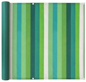 Prelată pentru balcon, material Oxford, 75x600 cm, dungi verzi