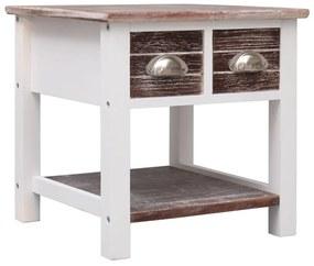 284067 vidaXL Masă laterală, maro, 40 x 40 x 40 cm, lemn de paulownia