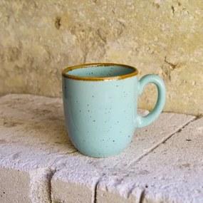 Cana Gardena din ceramica turcoaz 9 cm